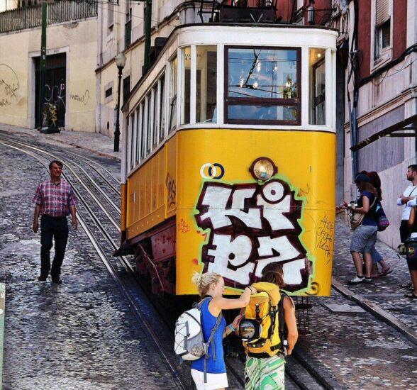 Elevador de Santa Gloria en Lisboa