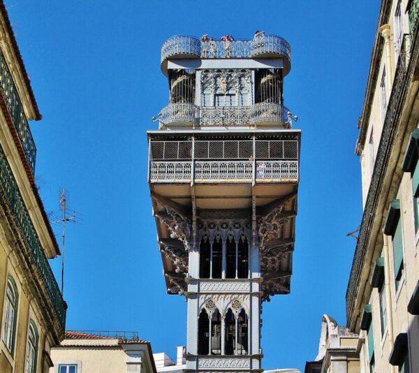 Elevador de Santa Justa en Lisboa