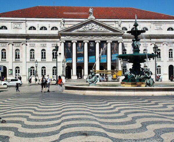 Plaza de Rossio en la Baixa de Lisboa