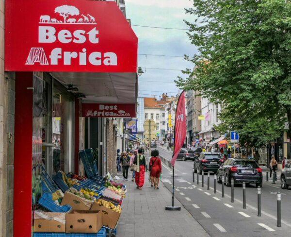 Barrio africano de Matonge en Bruselas en Bélgica