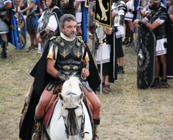 Desfile de legiones romanas en las Guerras Cántabras en Los Corrales de Buelna
