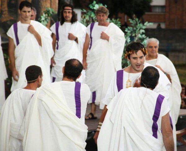 Senadores romanos en las Guerras Cántabras en Los Corrales de Buelna