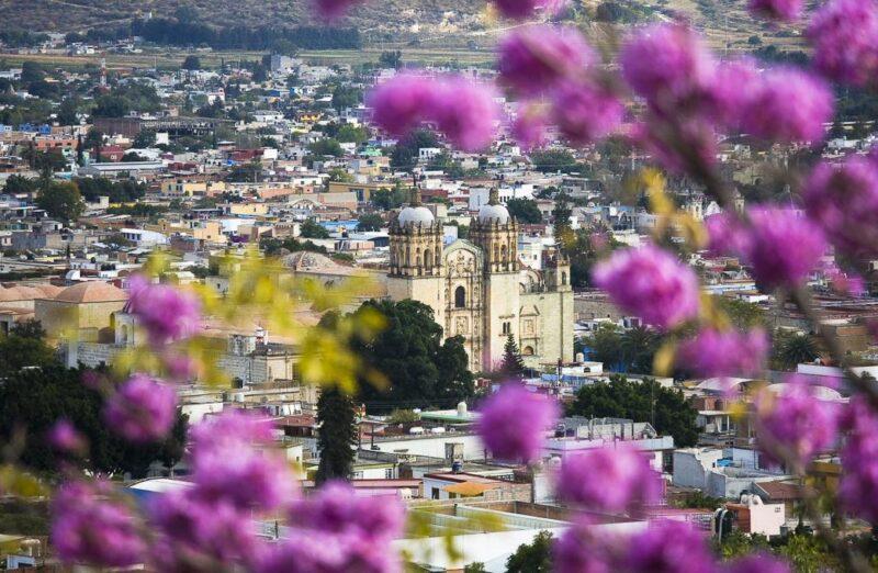 Vista panorámica de Oaxaca en México