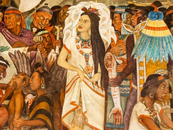 Murales en el palacio Nacional de Ciudad de México
