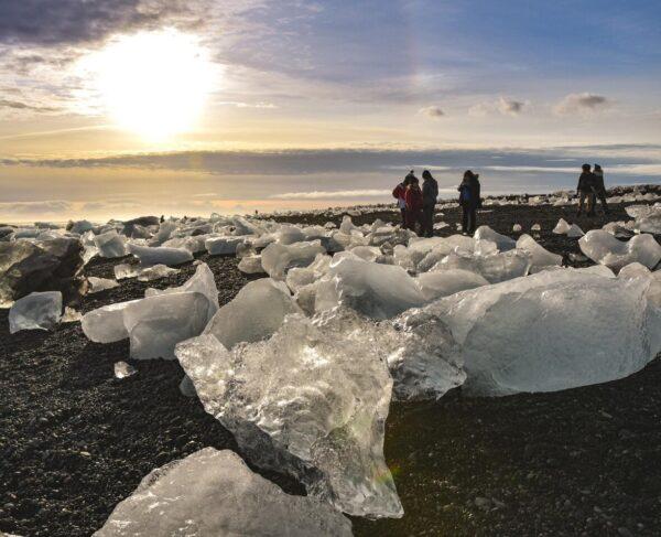 Playa de los Diamantes en Islandia