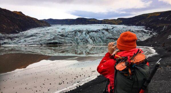 Glaciar Solheimajokull en Islandia