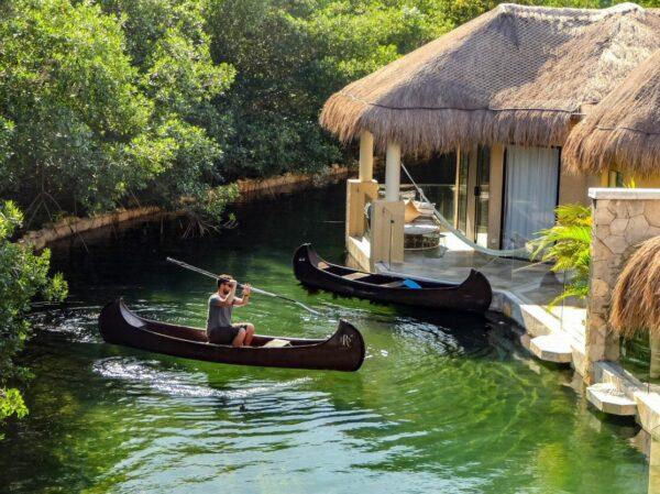 Cabañas mayas en TRS Yucatan Hotel en Riviera Maya