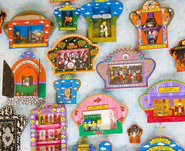 Artesanía típica en San Miguel de Allende en México