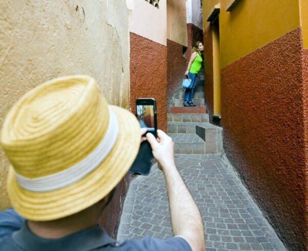 Callejón del Beso en Guanajuato en México