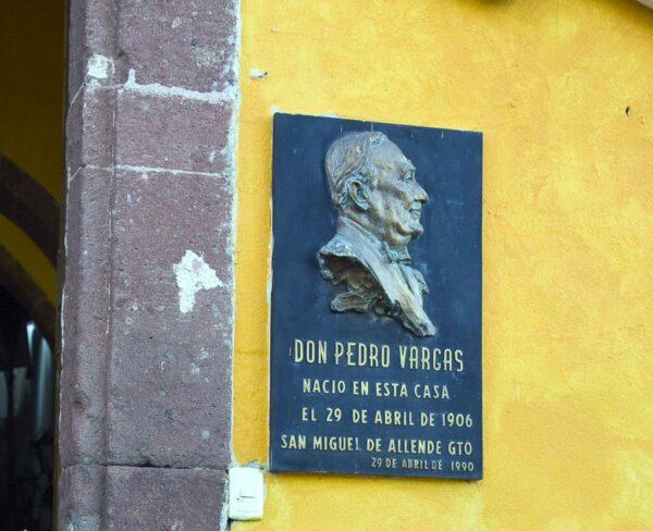 Casa natal de Pedro Vargas en San Miguel de Allende en México