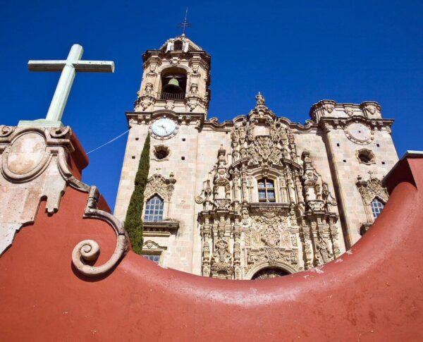 Iglesia La Valenciana en Guanajuato en México