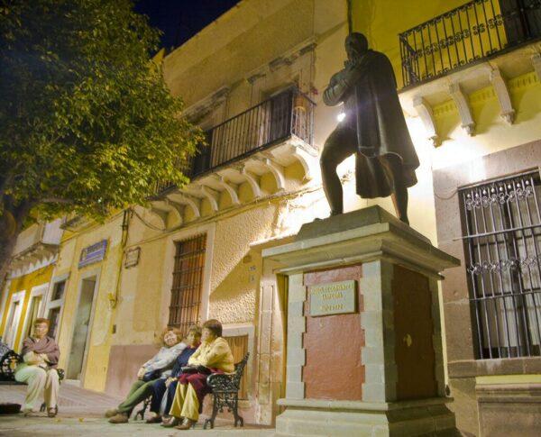 Monumento a Cervantes en Guanajuato en México