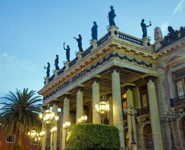 Teatro Juárez en Guanajuato en México
