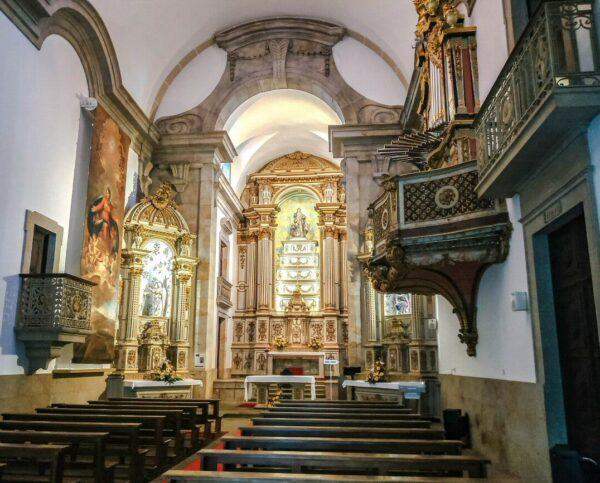 Iglesia de la Misericordia en Viseu en la región Centro de Portugal
