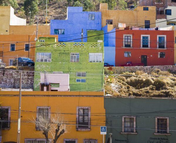 Casas de colores en Zacatecas en México