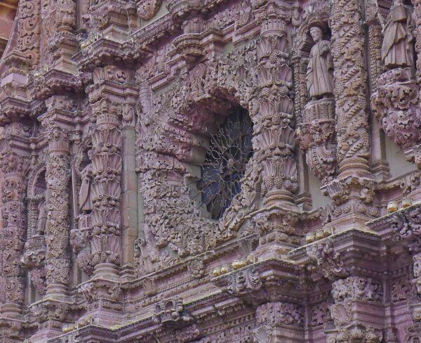 Detalle de la fachada de la catedral de Zacatecas en México