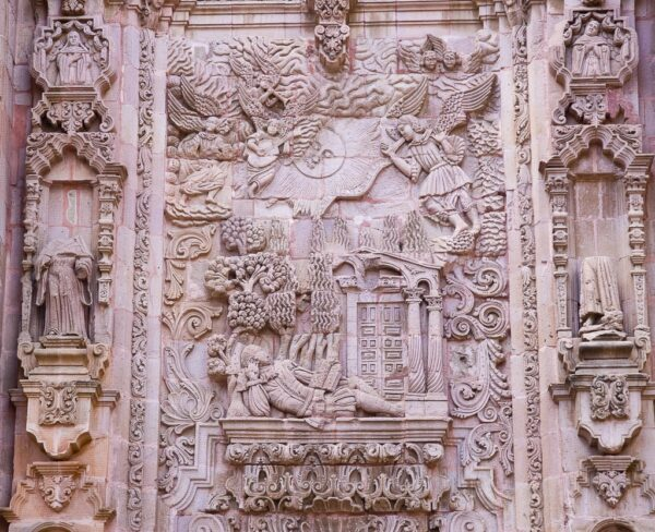 Antiguo templo de San Agustín en Zacatecas en México