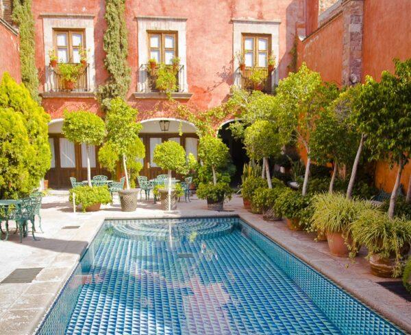 Hotel Mesón Santa Rosa en Querétaro en México