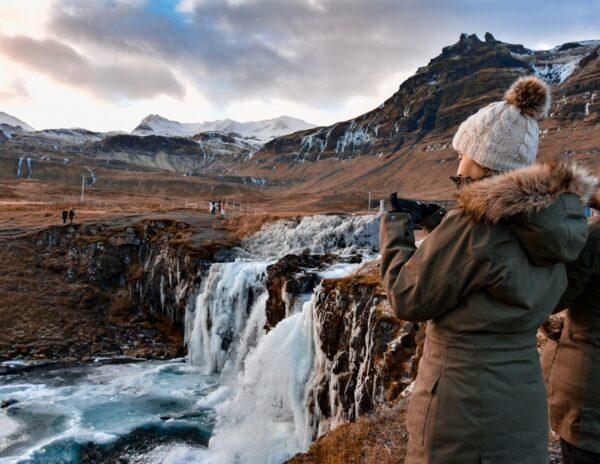 Cascada Kirkjufel en Islandia
