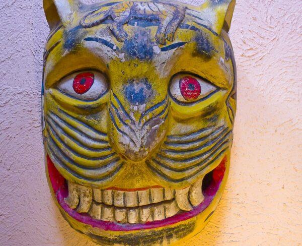 Máscara en museo Rafael Coronel en Zacatecas en México