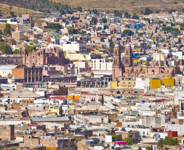 Panorámica del centro histórico de Zacatecas en México
