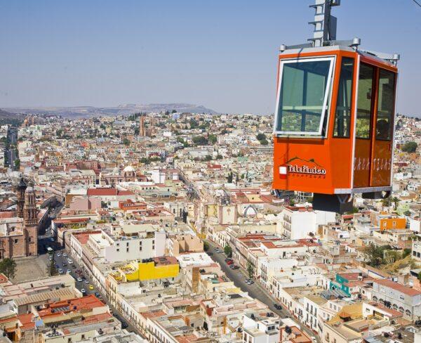 Teleférico al Cerro de la Bufa en Zacatecas en México