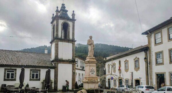 Vouzela cerca de Viseu en centro de Portugal