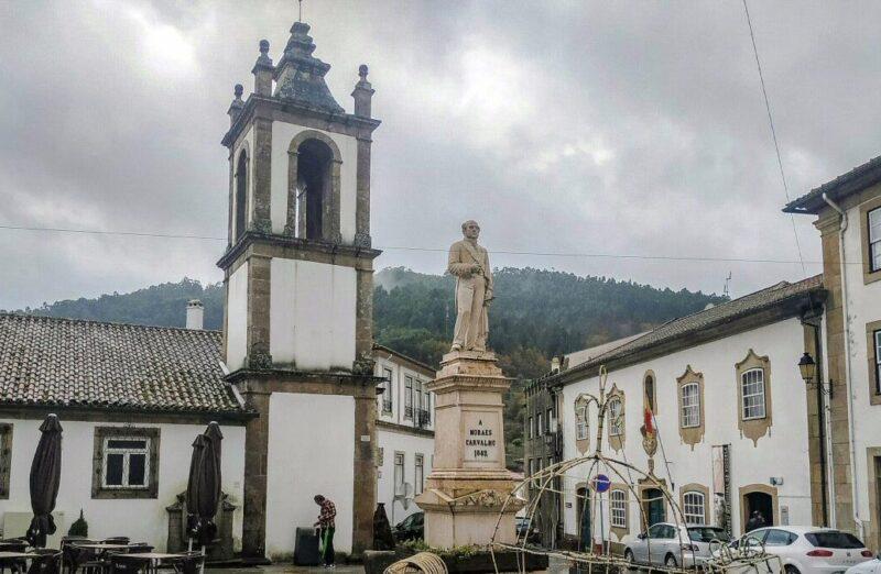 Vouzela en la Beira Alta en centro de Portugal