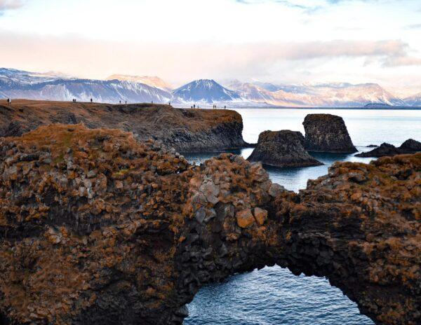 Formaciones basálticas de Gatklettur en Islandia