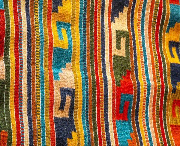 Artesanía de telas en Teotitlan del Valle cerca de Oaxaca