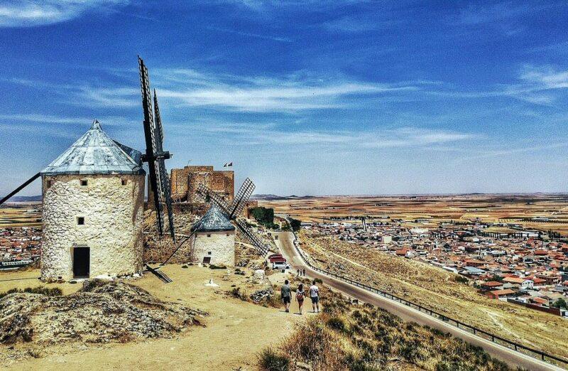 Molinos de Consuegra en provincia de Toledo