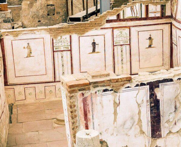 Las casas en terrazas de Éfeso en Turquía