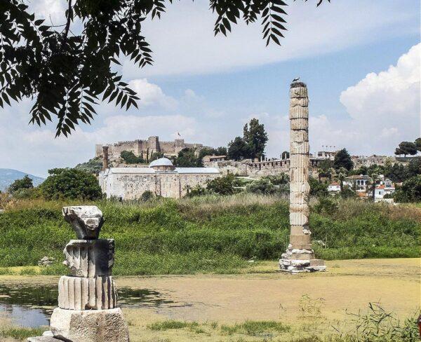 Templo de Artemisa en Éfeso en Turquía