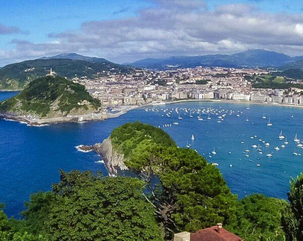 Vistas de San Sebastián desde el monte Igueldo