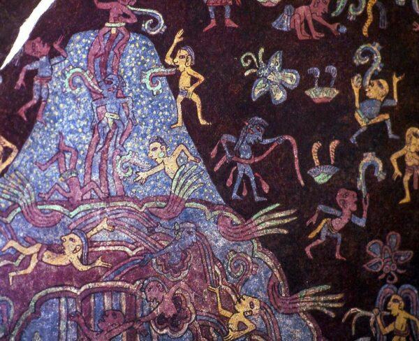 Mural Paraiso de Tlaloc en Teotihuacan en Mexico