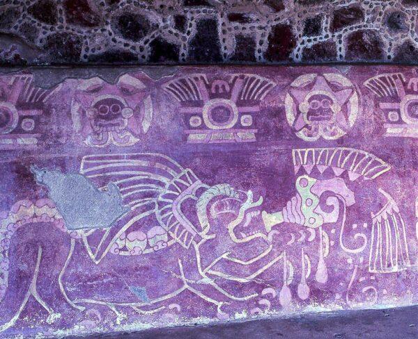 Mural de Jaguar en Teotihuacán en México
