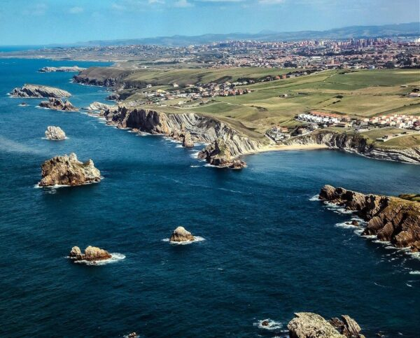 Cala cerca de Santander en Cantabria