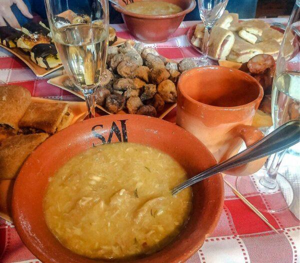 Gastronomía en Castelo Rodrigo en el Centro de Portugal