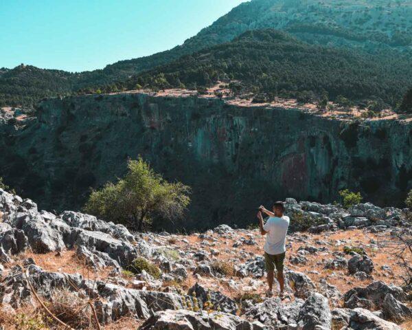 Mirador de anidamiento de buitres leonados en Sierra de Cazorla