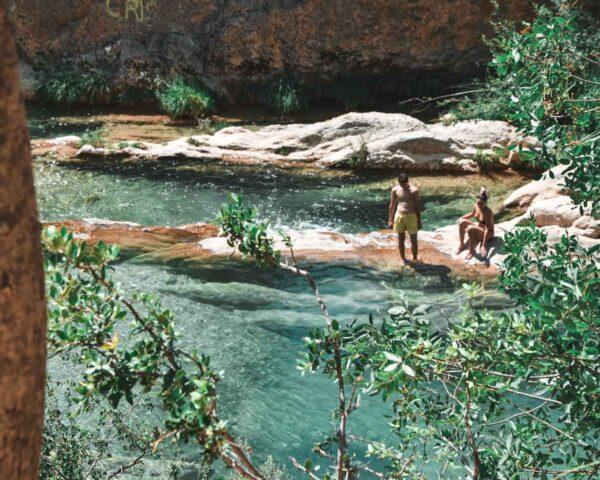 Poza del Puente de las Herrerías en la Sierra de Cazorla