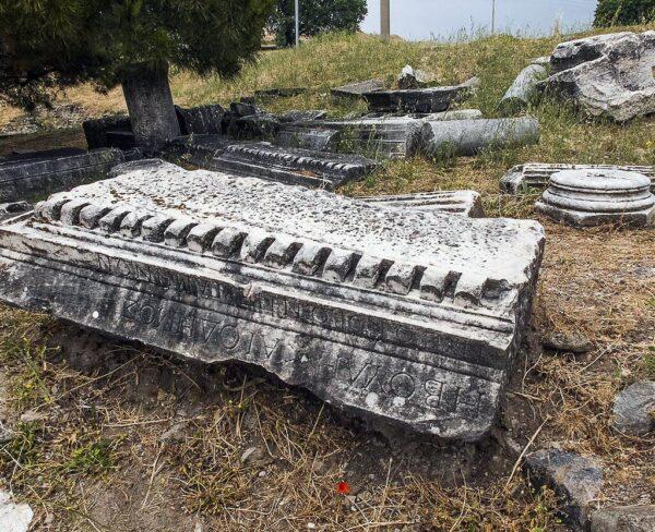 Zona arqueológica de Pérgamo en Bergama en Turquía