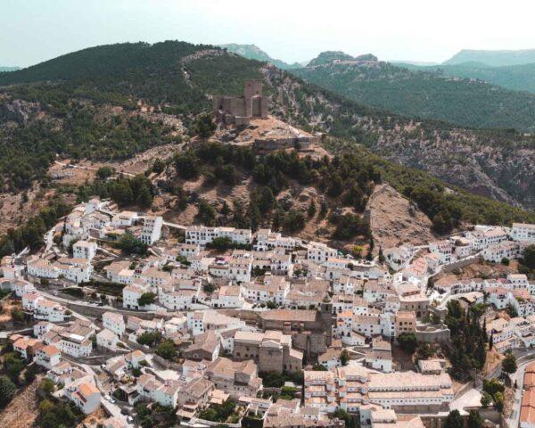 Segura de la Sierra desde el aire en la provincia de Jaén