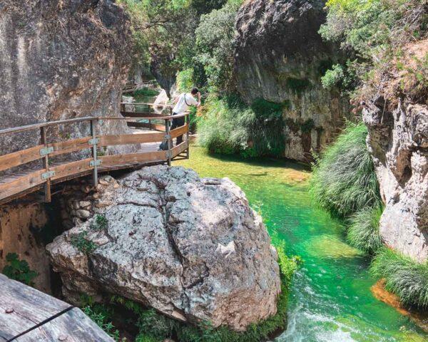 Desfiladero en Sendero del Río Borosa en Sierra de Cazorla