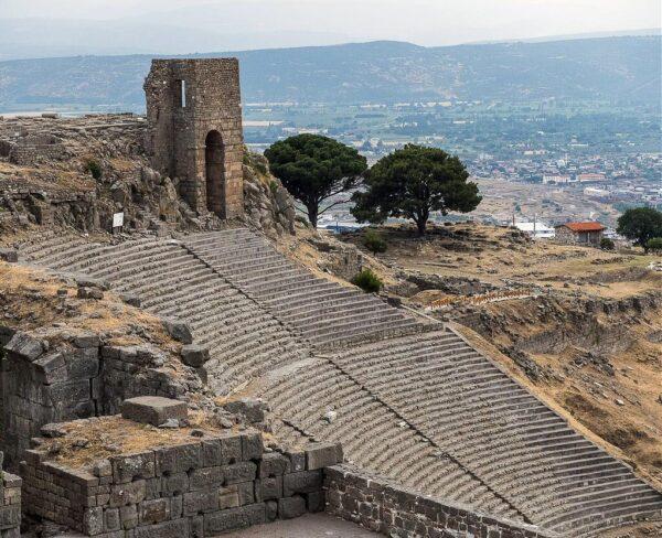 Teatro de Pérgamo en Bergama en Turquía