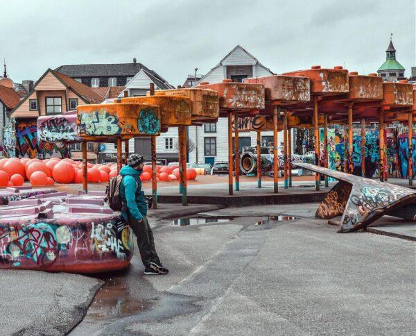 Geoparken en Stavanger en fiordos noruegos