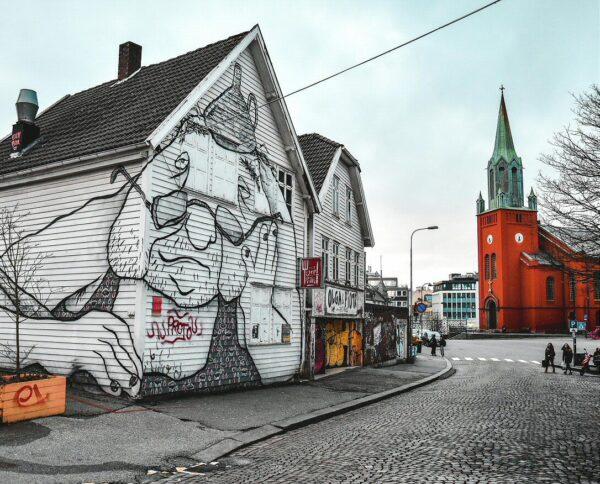 Street Art en Stavanger en fiordos noruegos