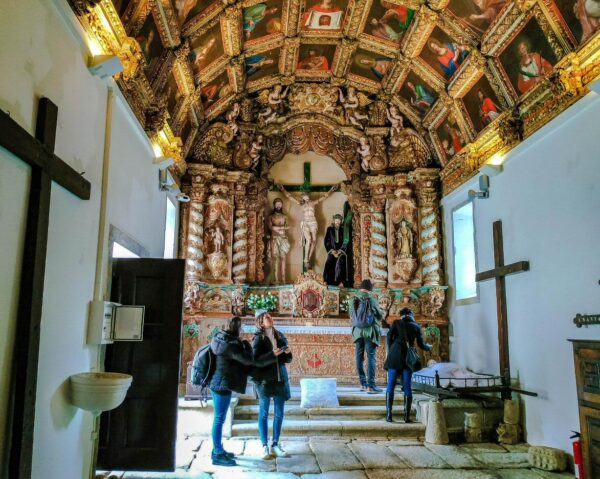 Capilla del Señor de los Pasos en Marialva en Centro de Portugal