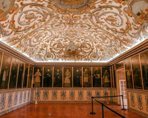Sala del Examen Privado en el Palacio Real de la Universidad de Coimbra
