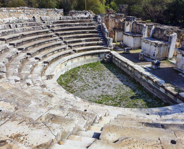Bouleterión en Afrodisias en Turquía