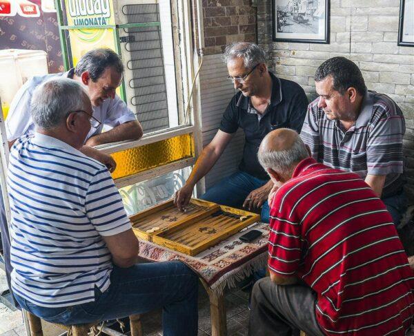 Cafetín en Bazar de Esmirna en Turquía
